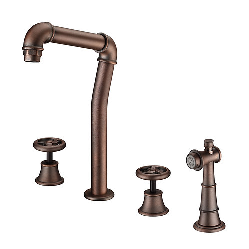 Loft Kitchen Spread Faucet with Two Handles & Spray LS21
