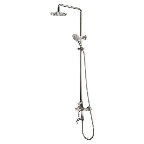 Bathroom Stainless Shower System with Spout