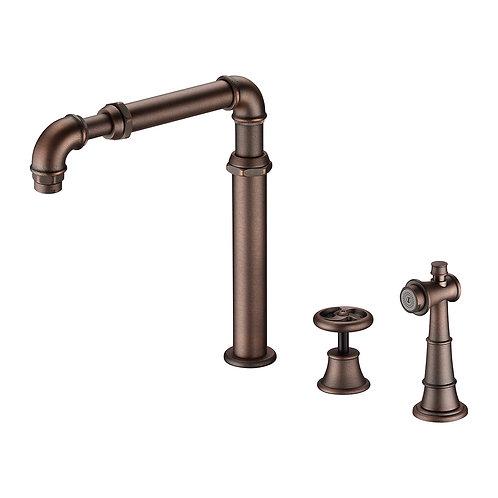 Loft Kitchen Spread Faucet with Single Handle & Spray LS15