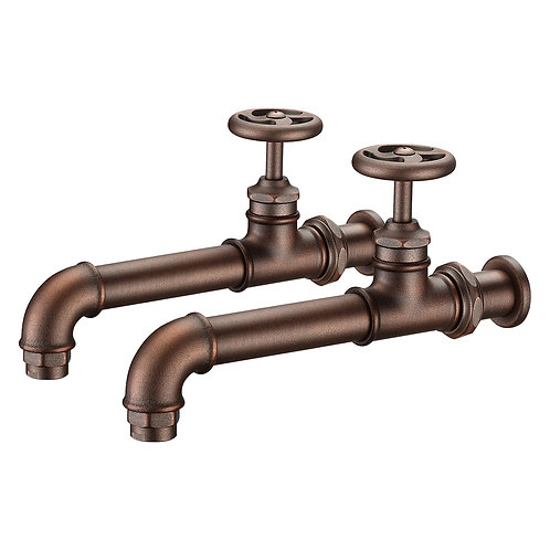 Loft Wall-mounted Double Faucet LS09