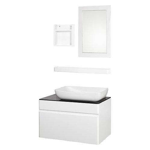Bathroom White Wooden Vanities with Mirror