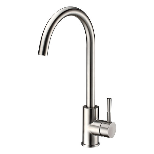 Kitchen Single-Hole Sink and Bar Faucet