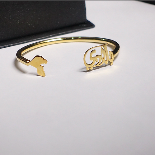 "Blade, ""my country"" gold plated bracelet"