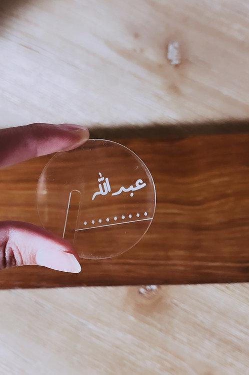 Tea tags dots style