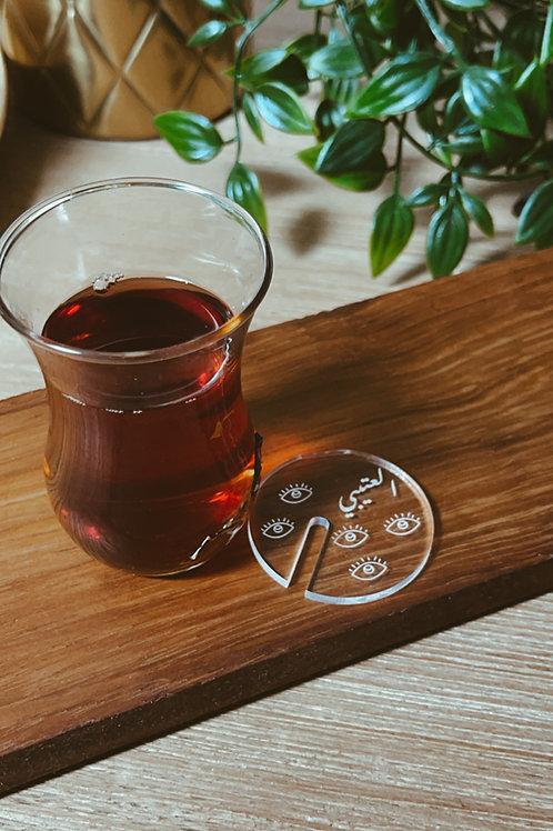 1 Dozen Custom Tea Plexiglass