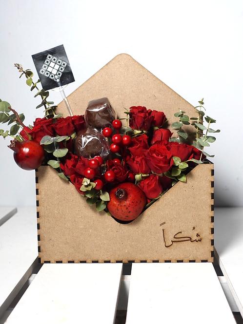 Customised Wooden envelope flower box