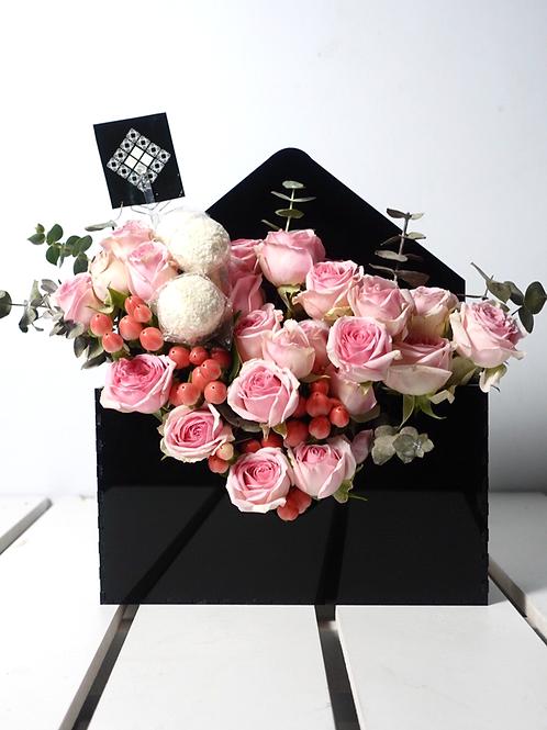 Acrylic Flower Envelope box