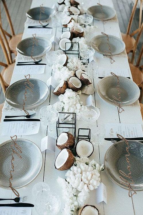 Dozen Customized English Wooden Plate Tags