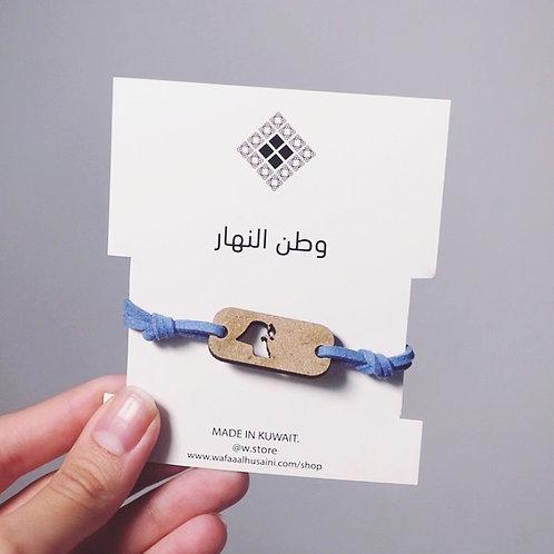 Kuwaiti map Card bracelet