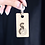 Thumbnail: Customised wooden/faux leather engraved keychain