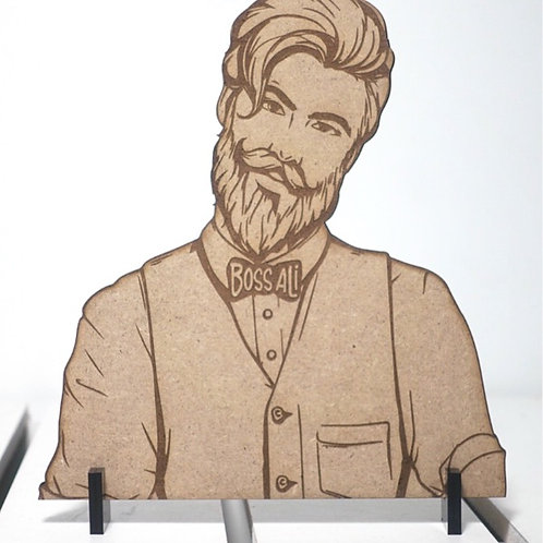 Customized Male Desk Stand