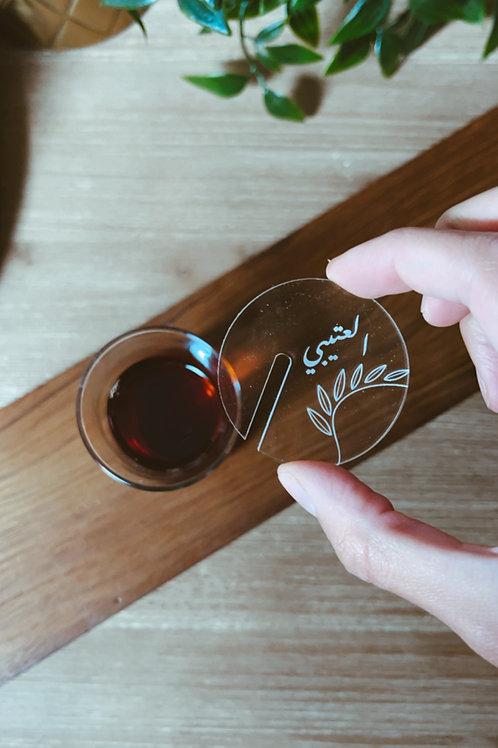 1 Dozen Customized Tea Plexiglass
