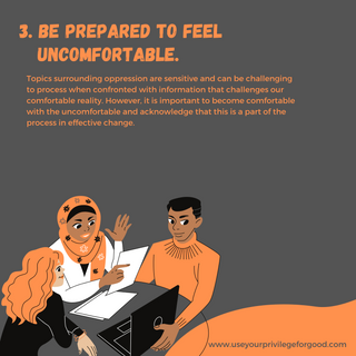 3. Comfortable with being Uncomfortable