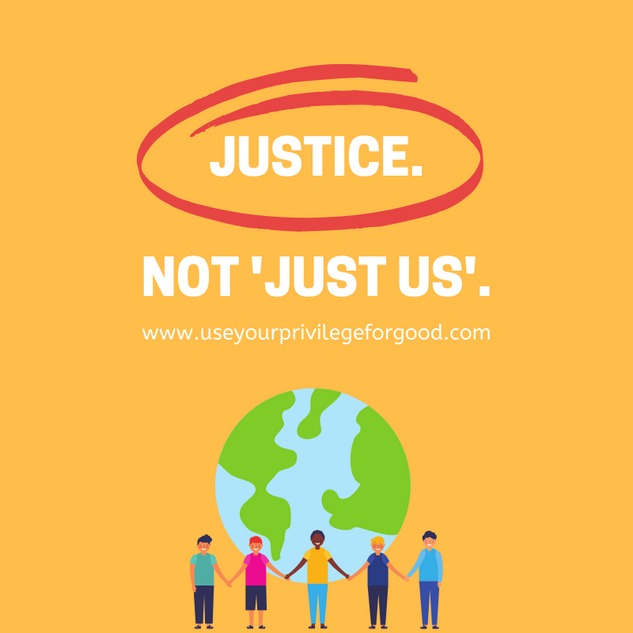 Justice. Not 'Just Us'.