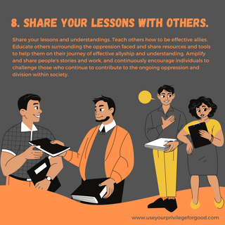 8. Share Your Lessons