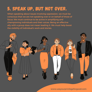 5. Speak Up and Not Over