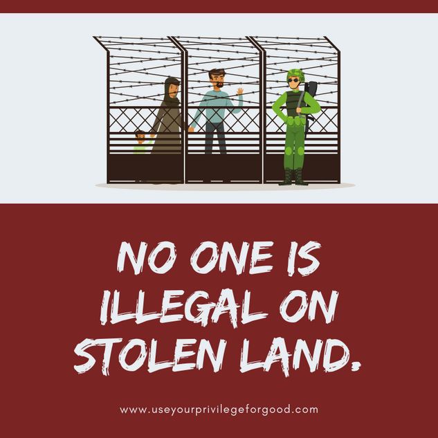 No One Is Illegal.