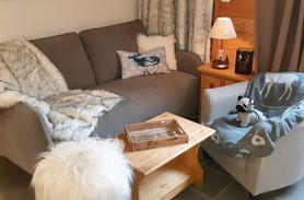 Canapé et plaid cocooning