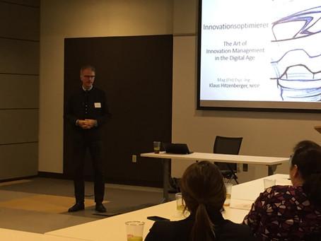 Innovationsoptimierer goes USA Teil 2: Vortrag vor führenden Innovationsexperten bei der PDMA in Cha