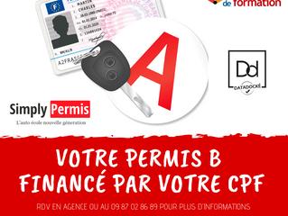 Votre CPF finance votre Permis B !