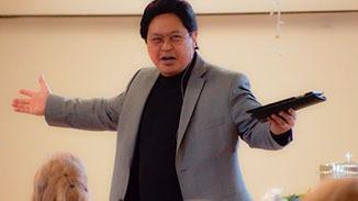 Pastor preaching God's Word