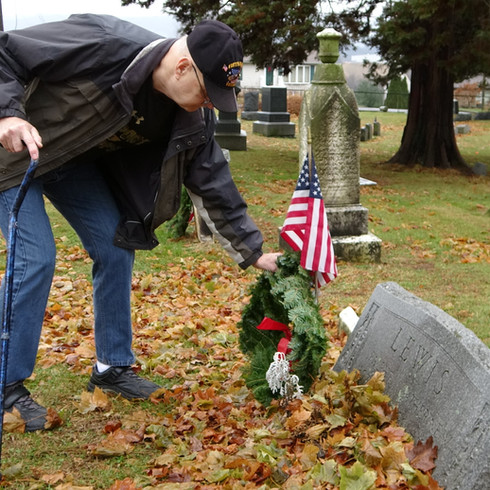 Wreath Laying for the Veterans