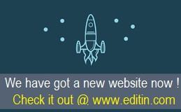 Propelling Refurbished Website www.editin.com