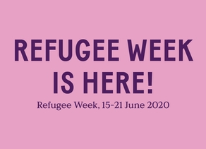 refugee week is here! 15th - 21st of june
