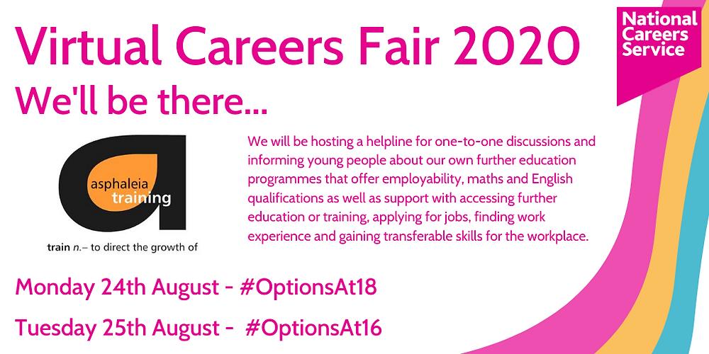 virtual careers fair flyer