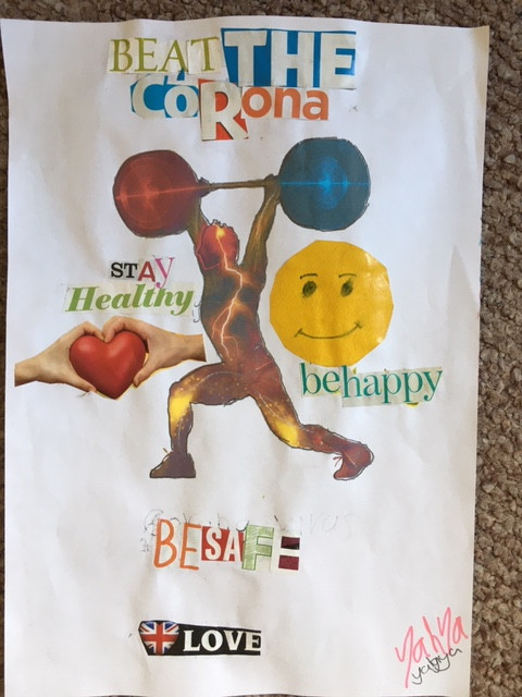young person poster stay healthy be happy be safe