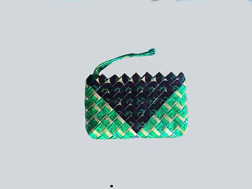 Nescafe Hazelnut Wallet with Handle - Green/Brown