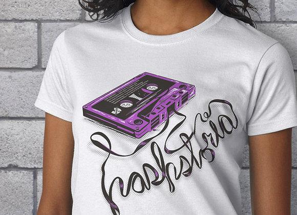 Womens Purple Tape Short Sleeve