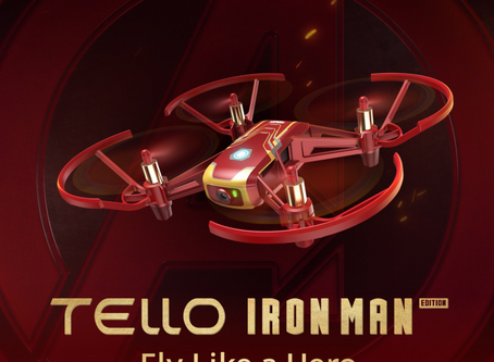 "Marvel and Dji Want You to ""Fly like a Hero"" with the New Tello Iron Man Edition"
