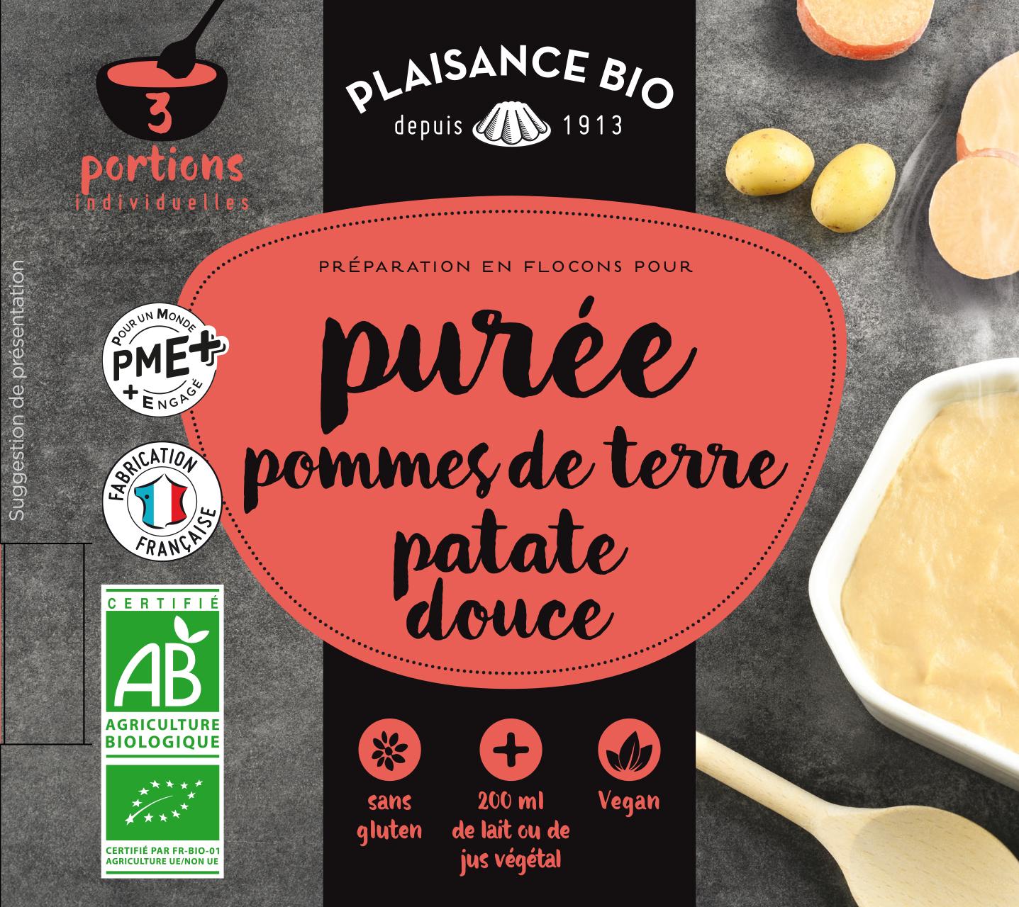 PUREE PDT PATATE DOUCE PLAISANCE BIO