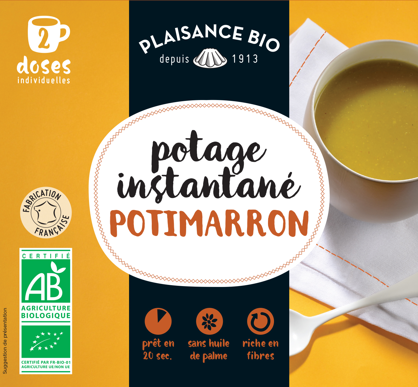 PLAISANCE BIO POTAGE POTIMARRON