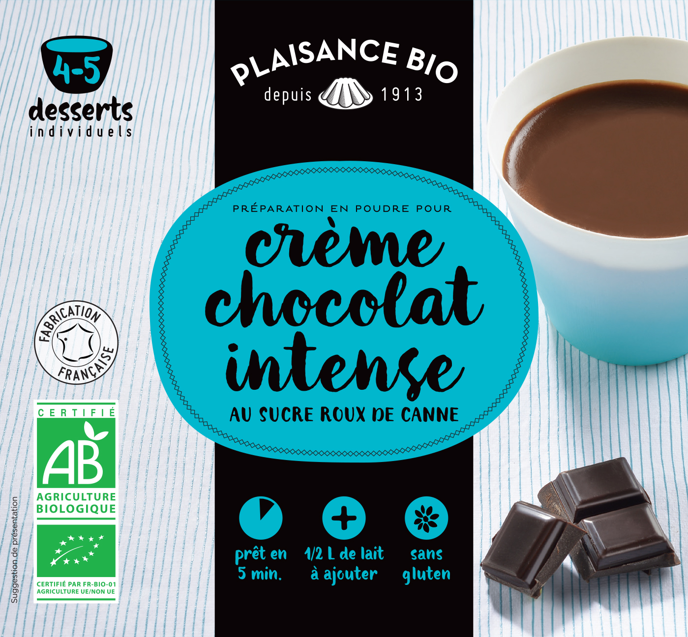 PLAISANCE BIO CREME CHOCOLAT
