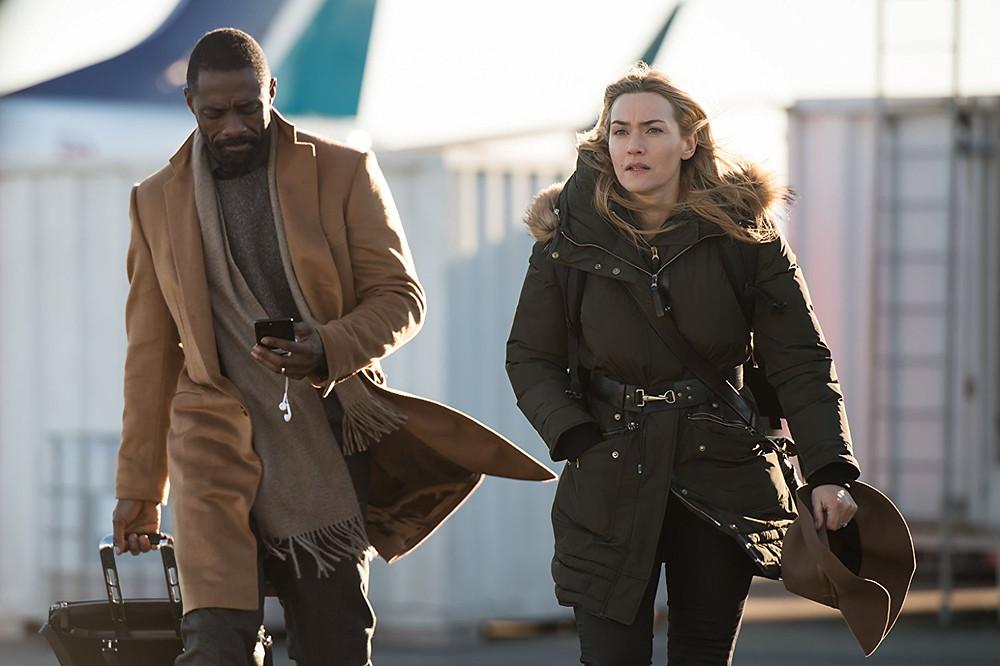 """A Mountain Between Us"" Idris Elba, Kate Winslet"