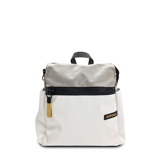 front view lady pack stunning white