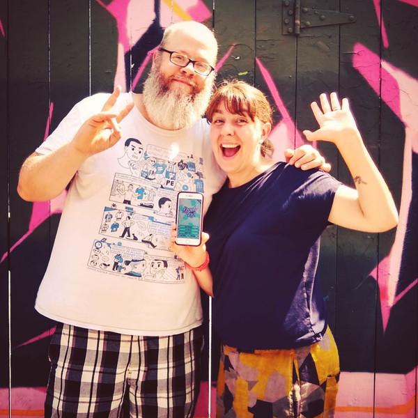 Pete Ellison and Emma Assin