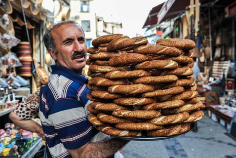 Le vendeur de pain, Istanbul, Turquie, mai 2014.