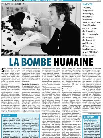 Claire Paris-Messler - Liberté-Dimanche (Rouen)