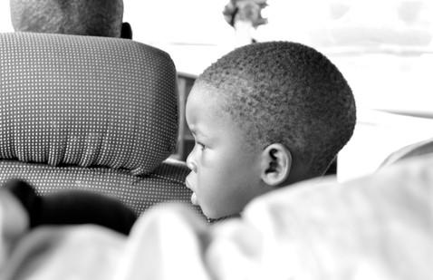 Dans le taxi pour Saint-Louis, Sénégal, août 2013.