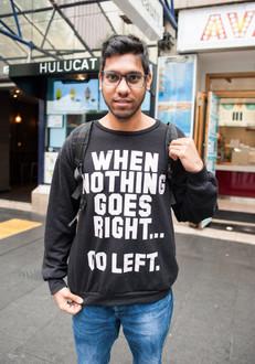 Dans les rues d'Auckland, Nouvelle Zélande, octobre 2018.