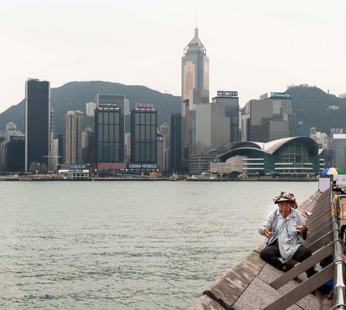 Le pêcheur résistant, Hong Kong, octobre 2015.