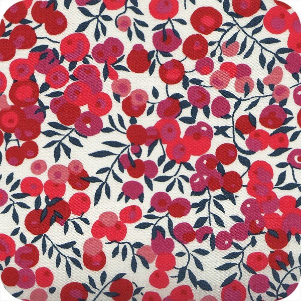 Coton Liberty wiltshire rouge