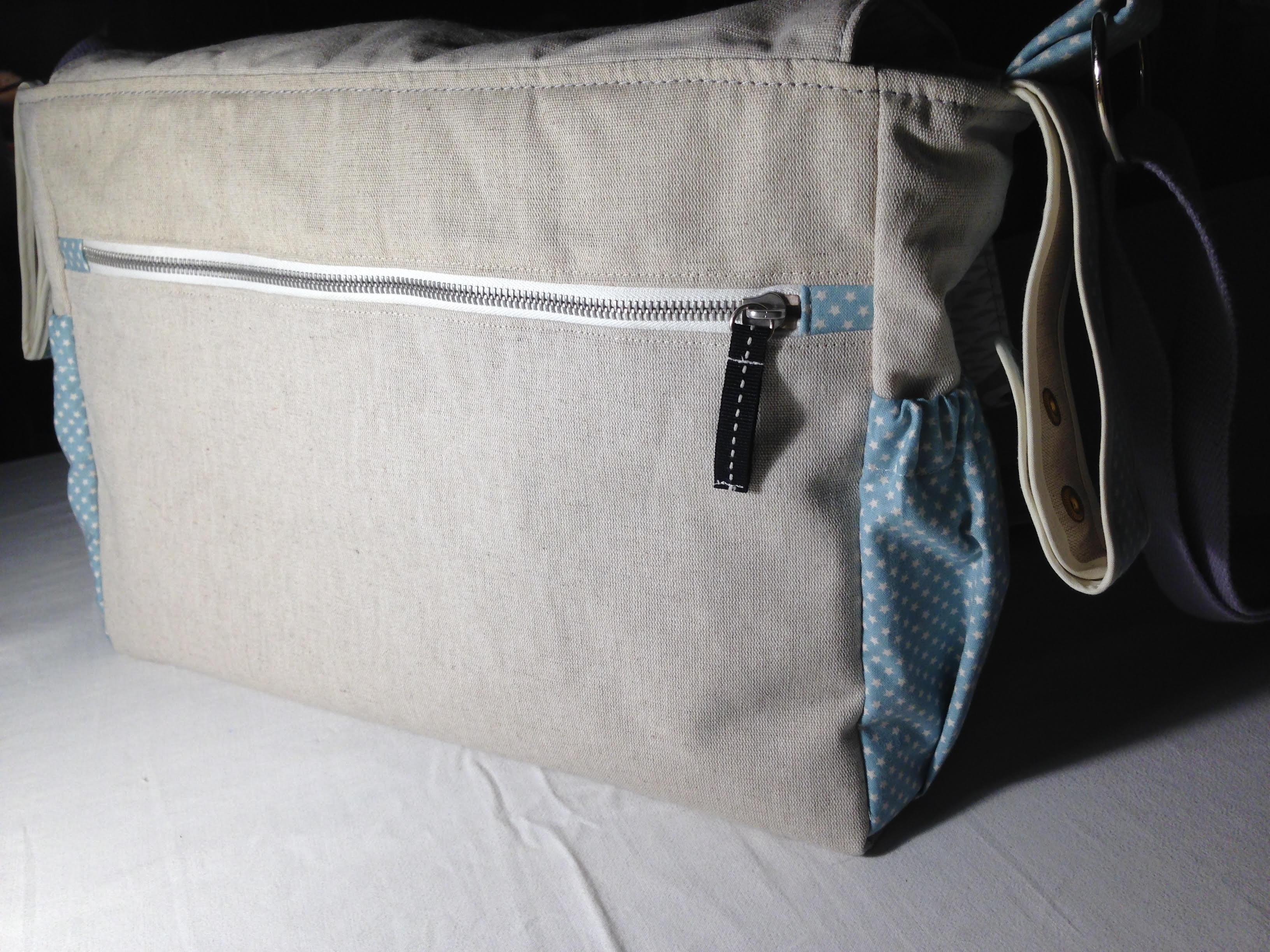 Fermeture éclair au dos du sac