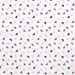 Coton multi triangle fuschia