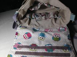 Intérieur du sac, nombreuses poches