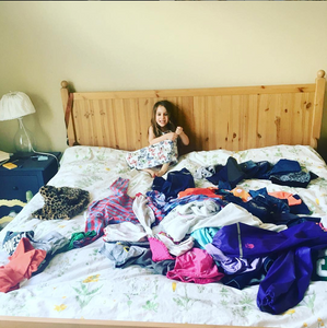 Organizing kid's room clothes