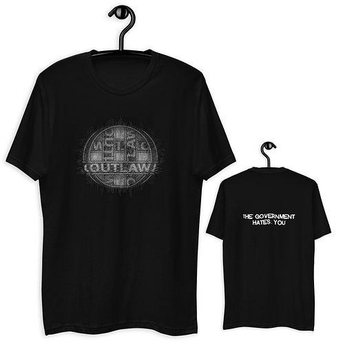 OutlawGOVH8 GLITCH t-shirt [black/white]